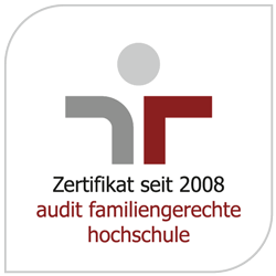 Logo: Certificate since 2008 - audit family-friendly university